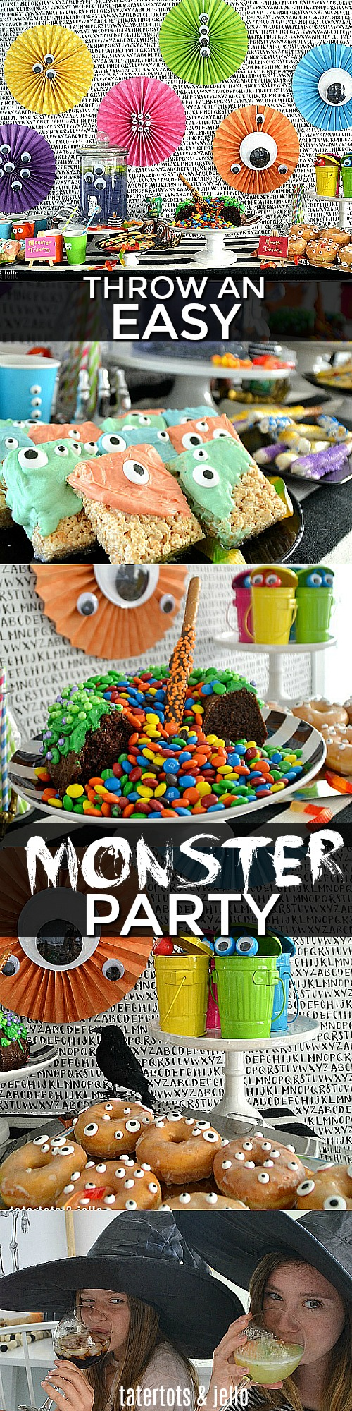 Throw an easy Monster party - food, decorations and more Halloween