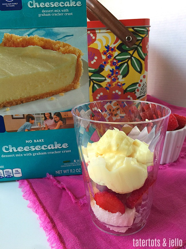Mini Berry Cheesecake Trifles are the perfect dessert to take on a picnic. You can make them up ahead of time in clear plastic cups and then use a lid or press and seal saran wrap to keep fresh in your picnic basket.