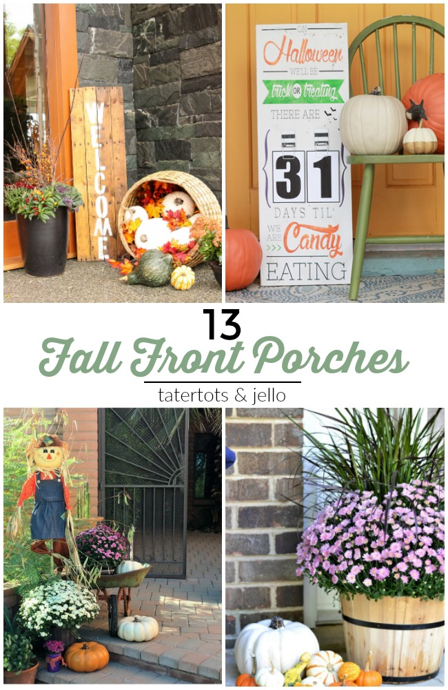 Great Ideas ? 13 Festive Fall Front Porches!