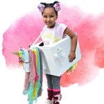 Make a Kids Unicorn Costume Out of Amazon Smile Boxes – with free unicorn head template!