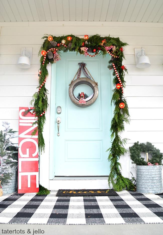 galvanized farmhouse holiday wreath