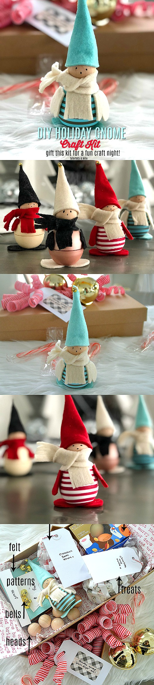 Holiday Gnome Craft Kit - fun craft night idea!