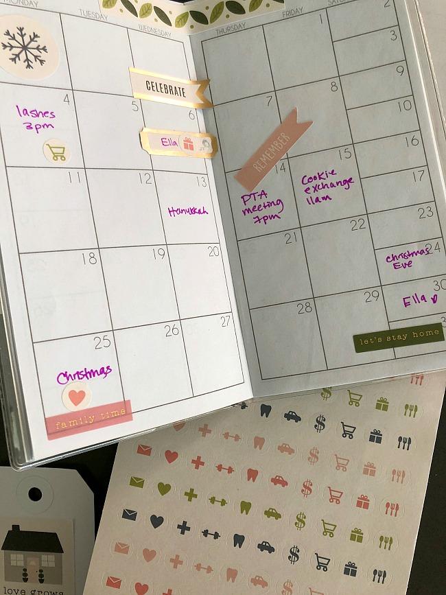 sticker book planner