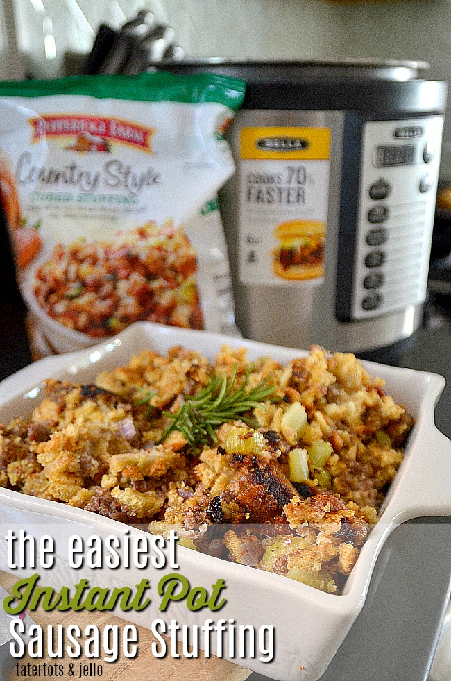 The Easiest Sausage Herb Stuffing In Your Instant Pot