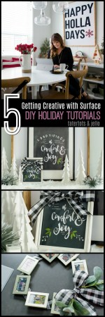 Good Tiding Holiday Chalkboard Template -Create one-of-a-kind art!