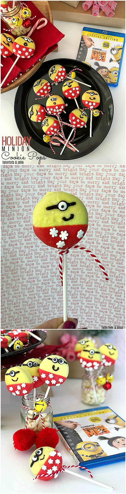 Minion Holiday Cookie Pops Party Idea