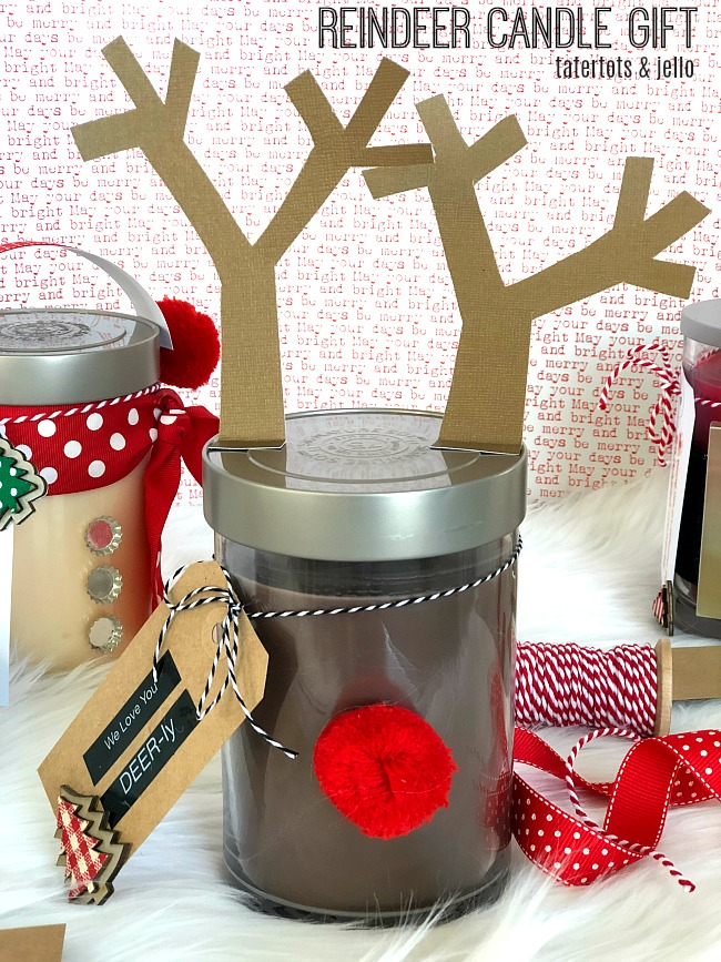 Holiday Neighbor Gifts and EASY Label Tags- Snowman, Santa and Reindeer!