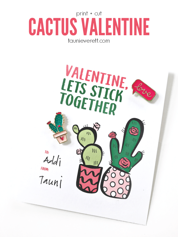 Cactus valentines from Tauni +Co.