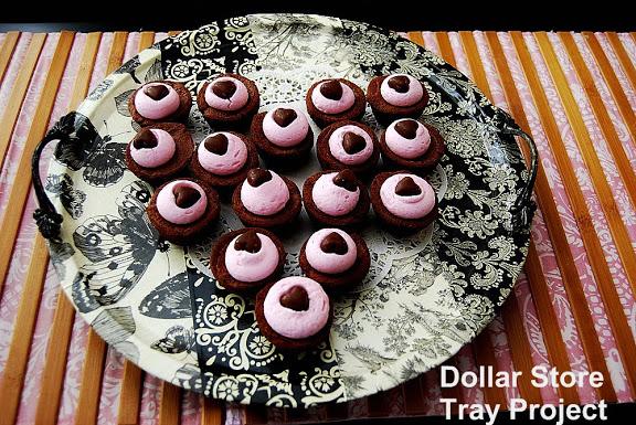 Dollar Store Decoupaged Tray