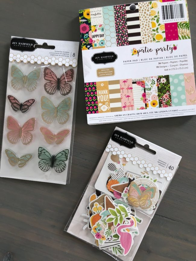 Jen Hadfield Pebbles Patio Party Line - perfect for making banners, invitations, crafts and more!