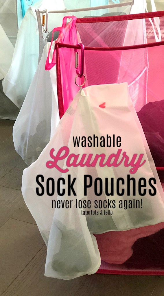 Our Dream Invention - Washable Laundry Pouches and Colored Hampers. We solved our problem of missing socks in the laundry!