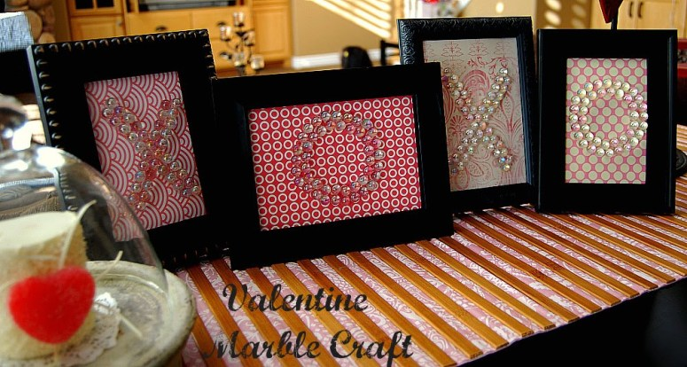 xoxo Valentine Marble Craft Dollar Store