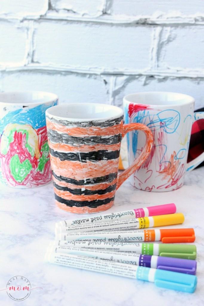 painted sharpie mug gift idea