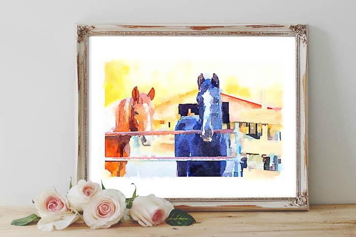 printable horse art