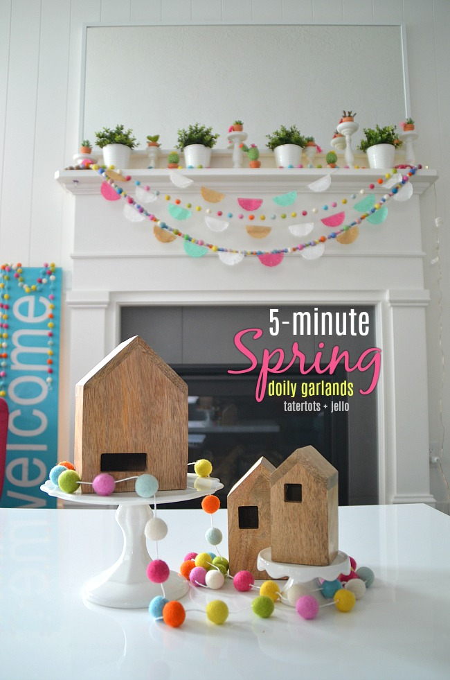 5-Minute Spring Doily Garland - brighten up YOUR home!
