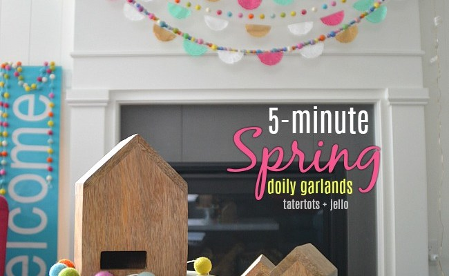 5-Minute Spring Doily Garland – brighten up YOUR home!