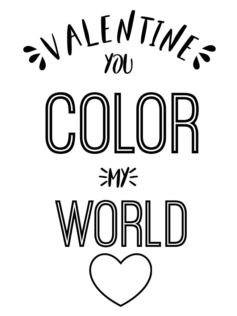 Valentine COLORABLE tags - kids can color them in and give them to friends! It's a great non-candy gift tag!