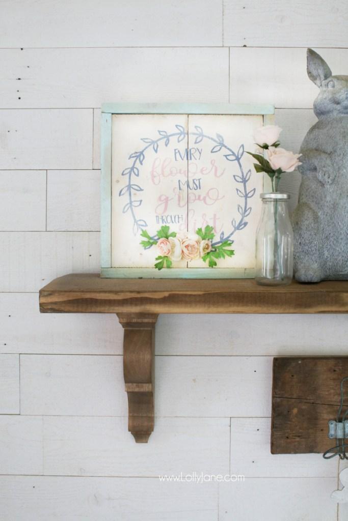 farmhouse shelf idea