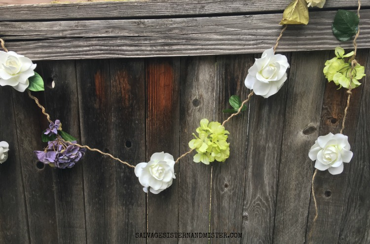 farmhouse spring flower garland