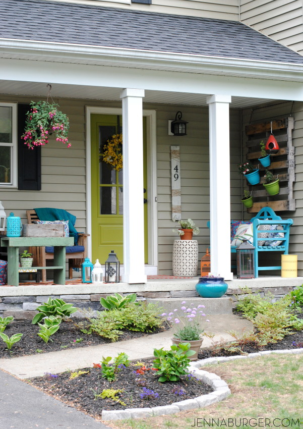 Spring bright and colorful porch ideas.