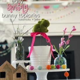 Make Spring Bunny Topiaries!