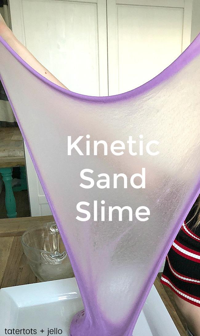 kinetic sand slime kids craft