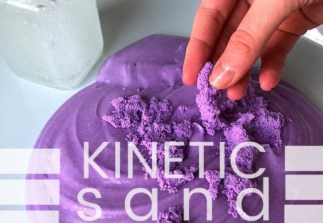 How to Make Kinetic Sand Slime!