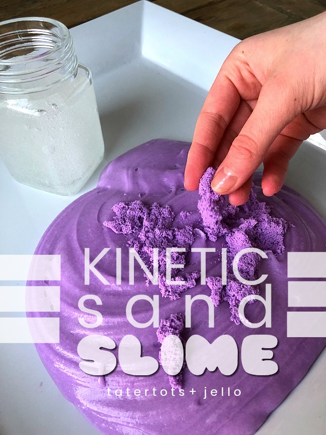Kinetic Sand Slime - stretchy slime with a smooth sandy texture is so fun to play with!