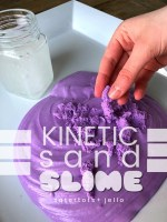How to Make Kinetic Sand Slime!