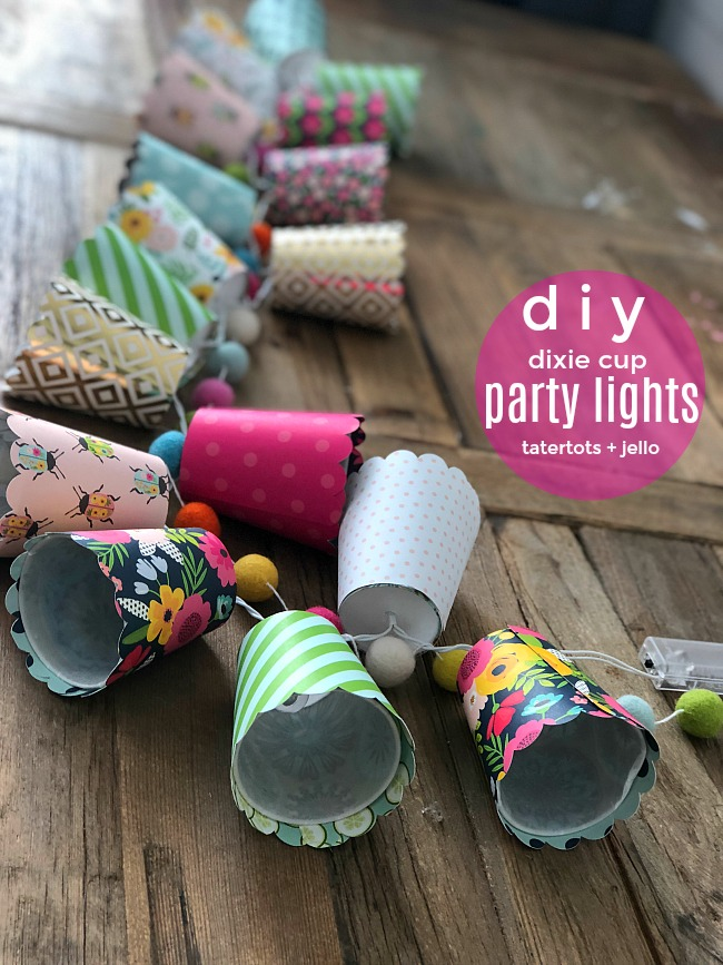 DIY Dixie Cup String Party Lights - with cut file!