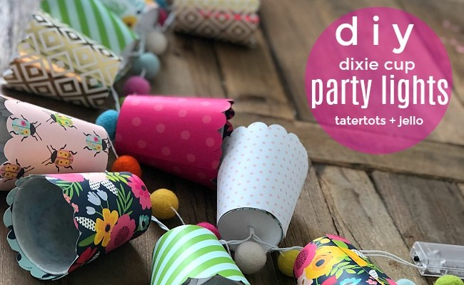 DIY Dixie Cup String Party Lights – with cut file!