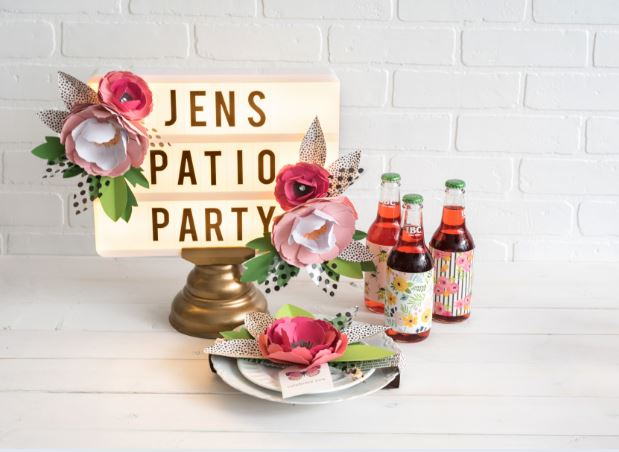 Dress up your marquee lightbox with paper flowers. You can change them out throughout the year. It's an easy way to make your lightbox the centerpiece of your home decor!