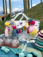 Thrifted BOHO Pom Pom Picnic Basket Makeover!