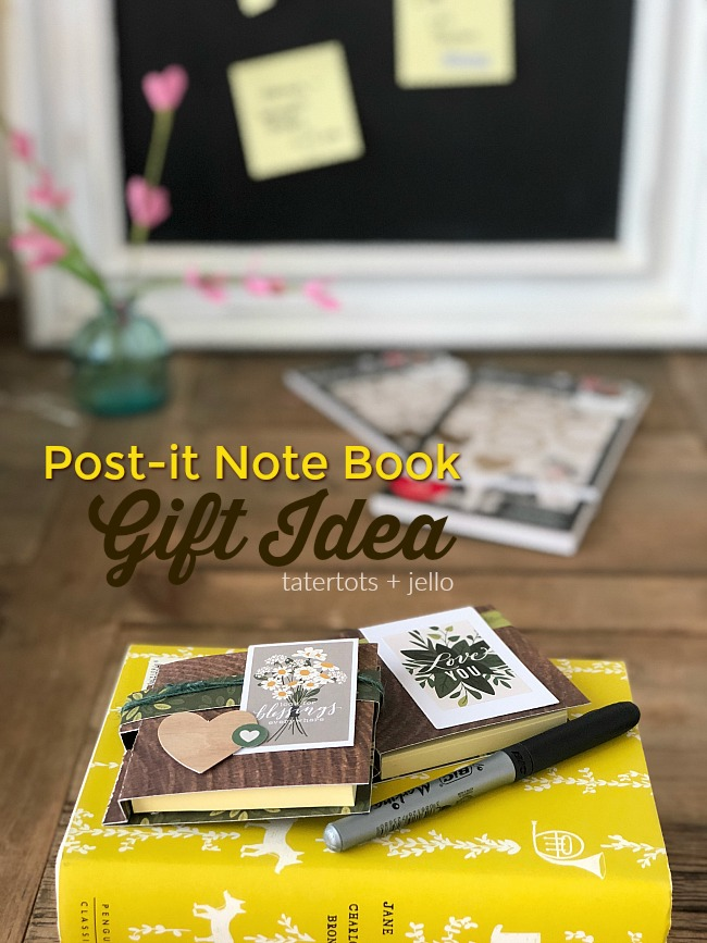 Post-It Note Book Gift Idea – Give Instead of a Card!