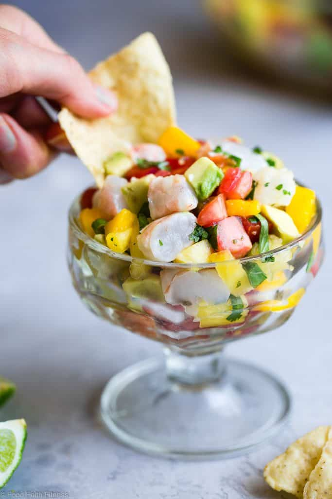 Mango Shrimp Ceviche Salad