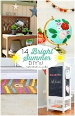14 Bright Summer DIY's – easy easy ways to brighten your home!