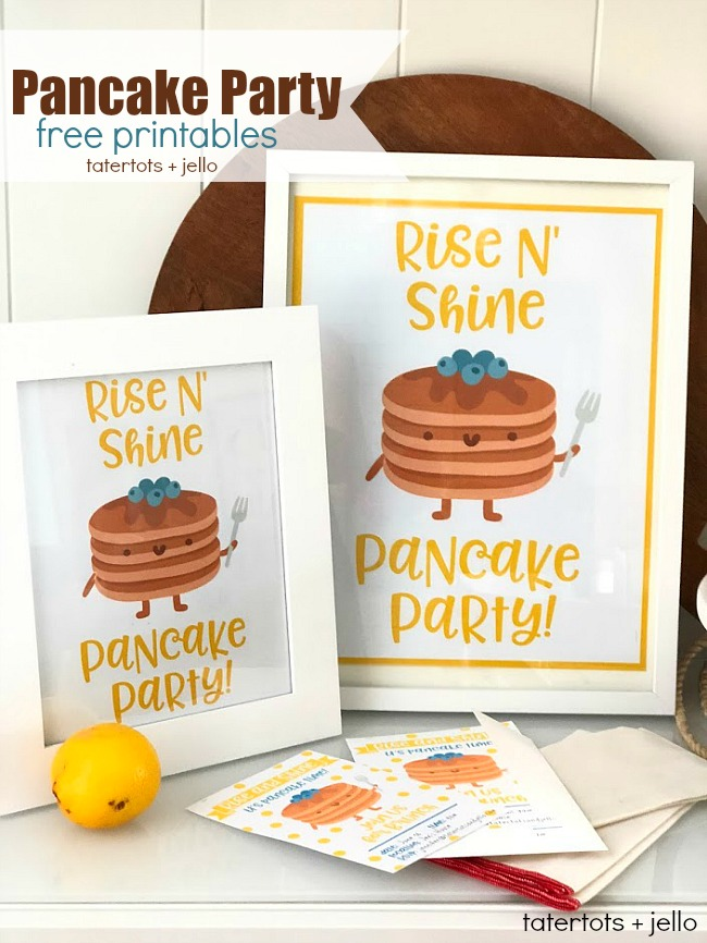 Kids Pancake Party - Free Party Banner, Poster, Invitations