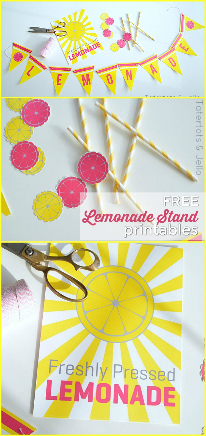 photograph regarding Free Printable Banners and Signs titled Summer months Lemonade Stand Cost-free Printable Symptoms - very simple lemonade