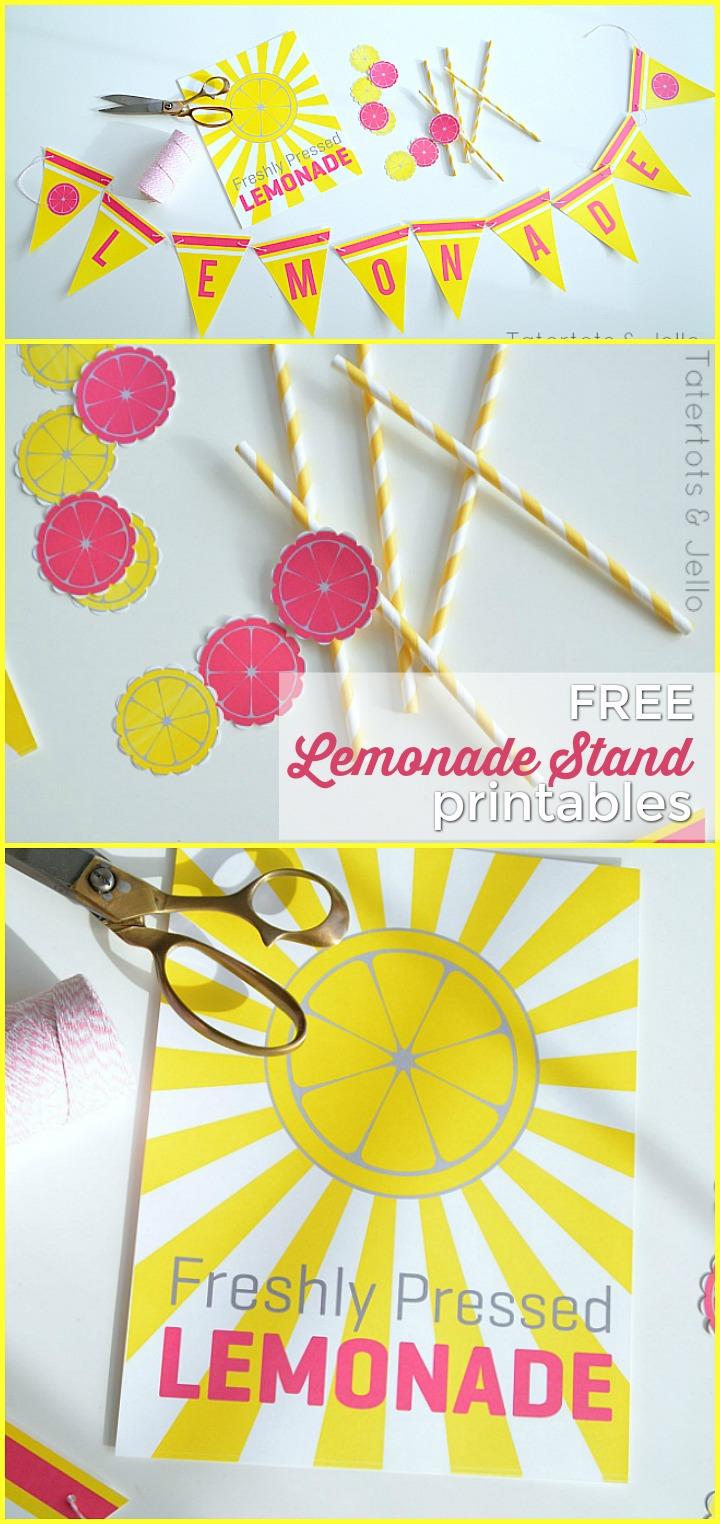 graphic regarding Lemonade Sign Printable identified as Summer time Lemonade Stand Cost-free Printable Indications - straightforward lemonade