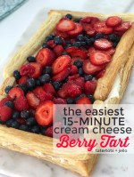 The Easiest 15-Minute Cream Cheese Berry Tart
