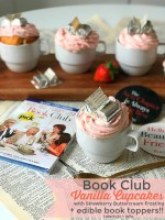 Throw a Book Club Party – Cupcakes in Teacups with Book Toppers!