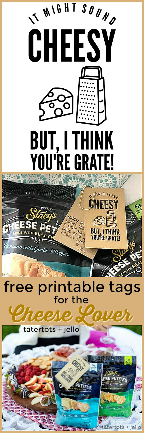 Free printable tags for the cheese lover gift idea
