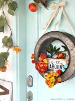 Farmhouse Gather Fall Wreath DIY!