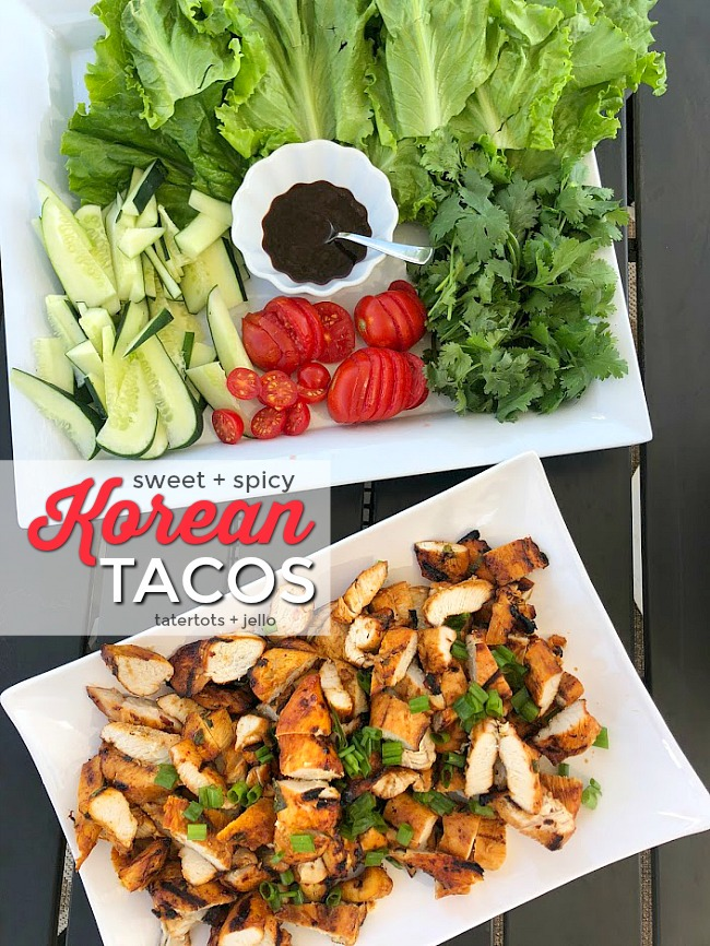 Sweet and Spicy Korean Chicken Tacos