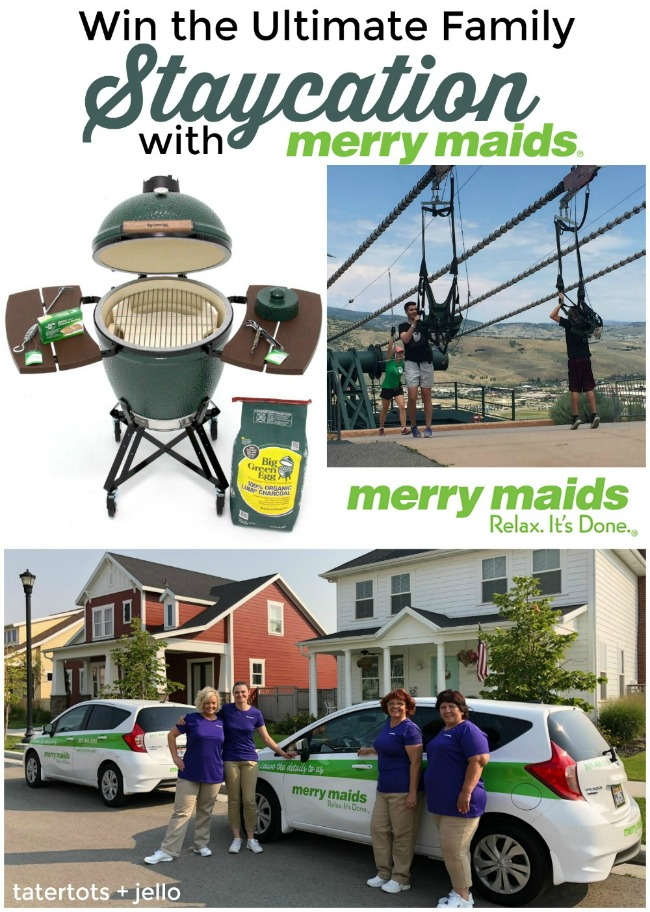 Win the ultimate STAYcation with Merry Maids! A full clean of your home and a nig green egg grill! Enter to win!