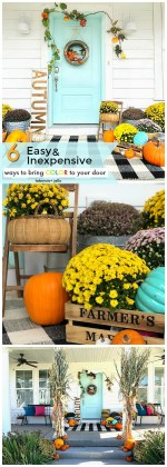 My Plaid Fall Porch – use plaid and bright colors to welcome Fall!