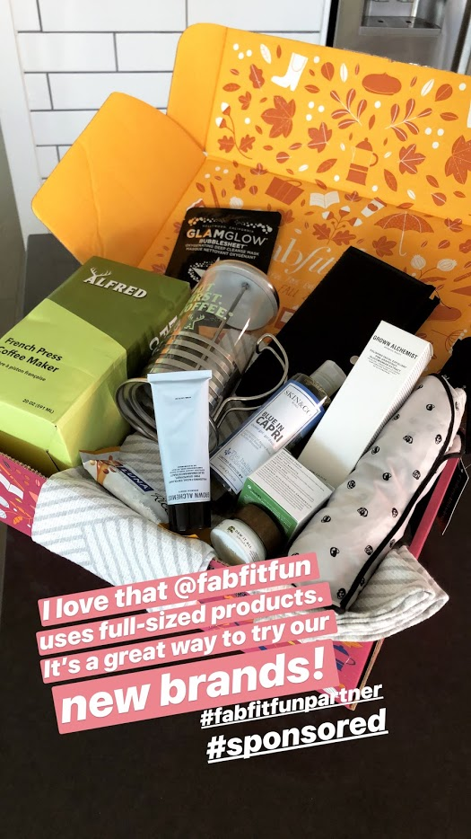 Have you heard of FabFitFun? It's a subscription box service that comes four times a year. It's basically like Christmas FOUR times a year!! I shared what was in our Fall Box and it's awesome! You get over $200+ of full-size products for $39.00 with my code TATER. And it also makes a wonderful gift idea!!!