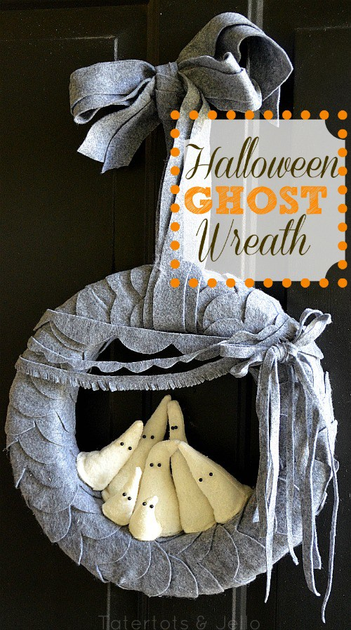 Halloween Ghost Wreath