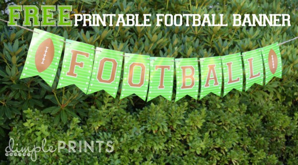free printable football banners