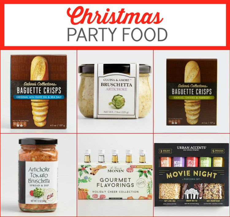 christmas party food at cost plus world market for holiday movie party